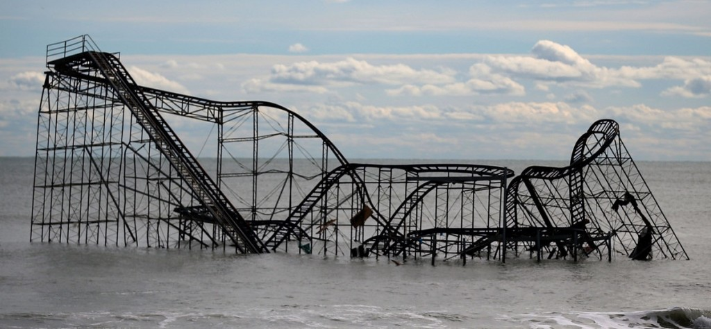 nj sandy storm roller coaster