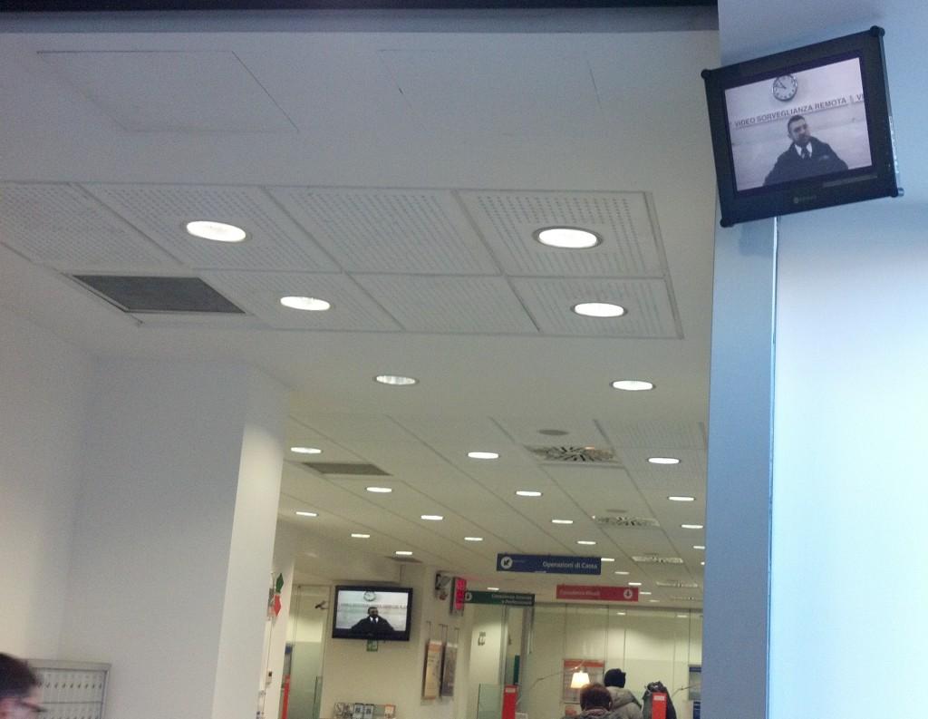Reverse Security Cam at Milan Bank