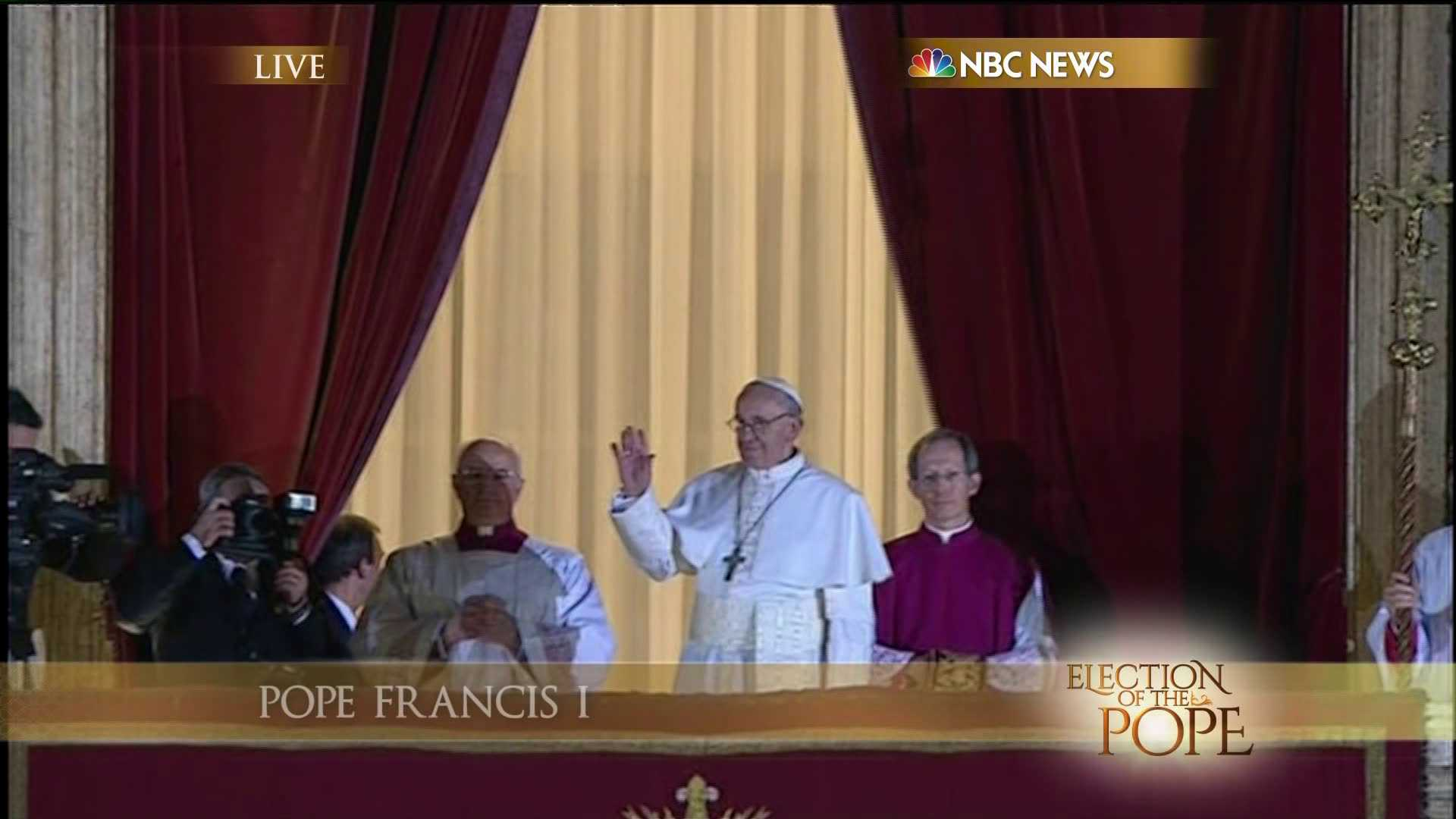 Pope Francis I, from kfor.com.