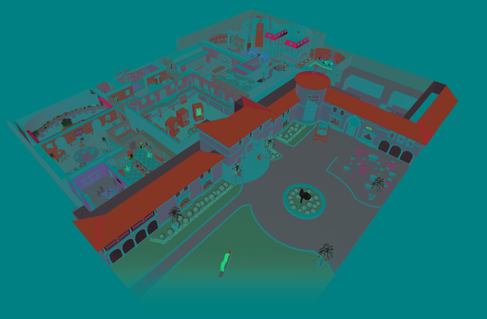 Barbie Dreamhouse Berlin 3D map
