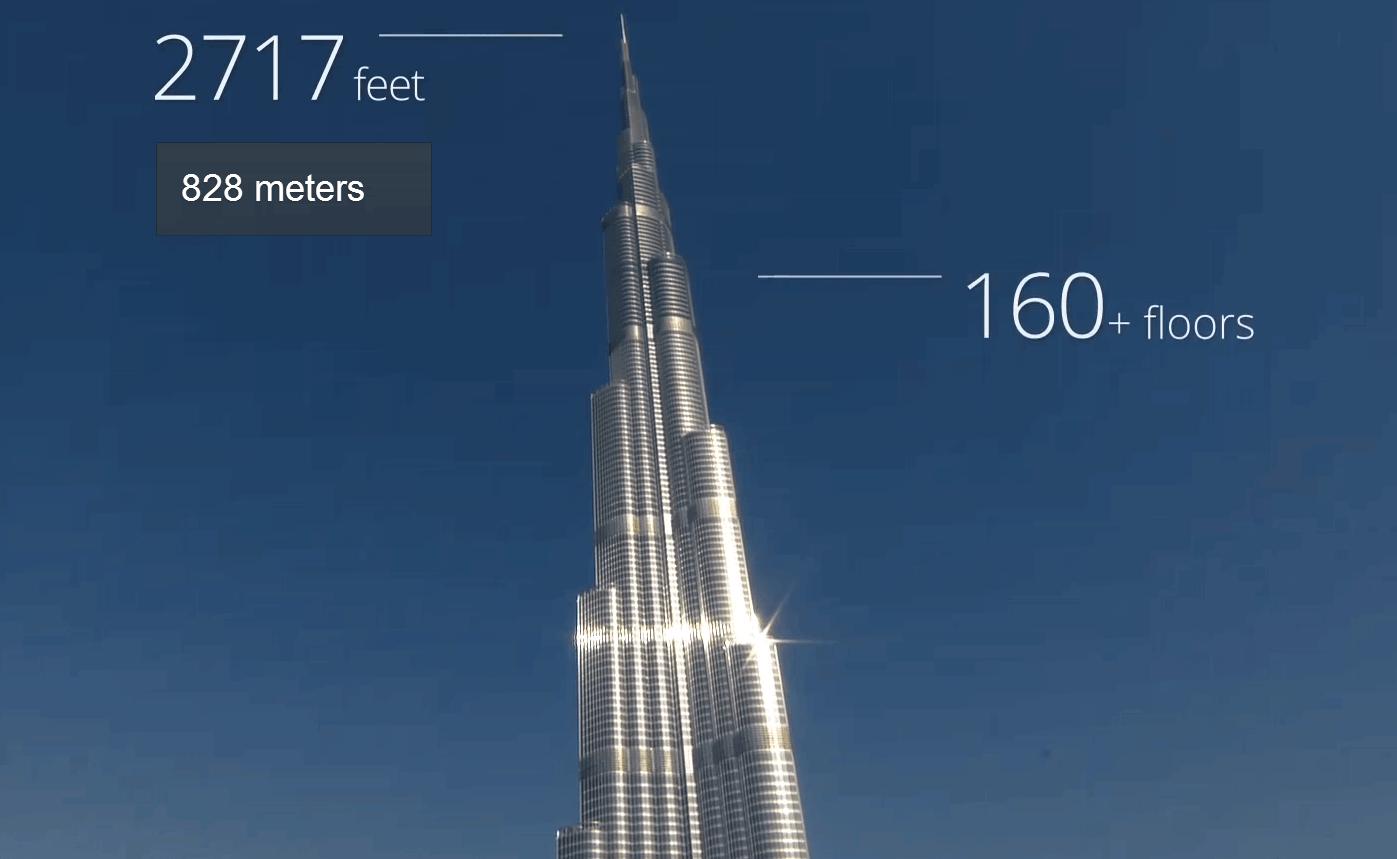 Burj Khalifa per Google Street View