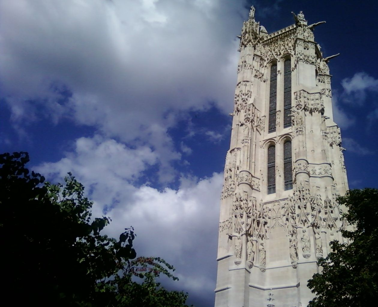 Tour Saint-Jacques Gothic Tower in Paris, France. Taken by Flickr user Cormac.