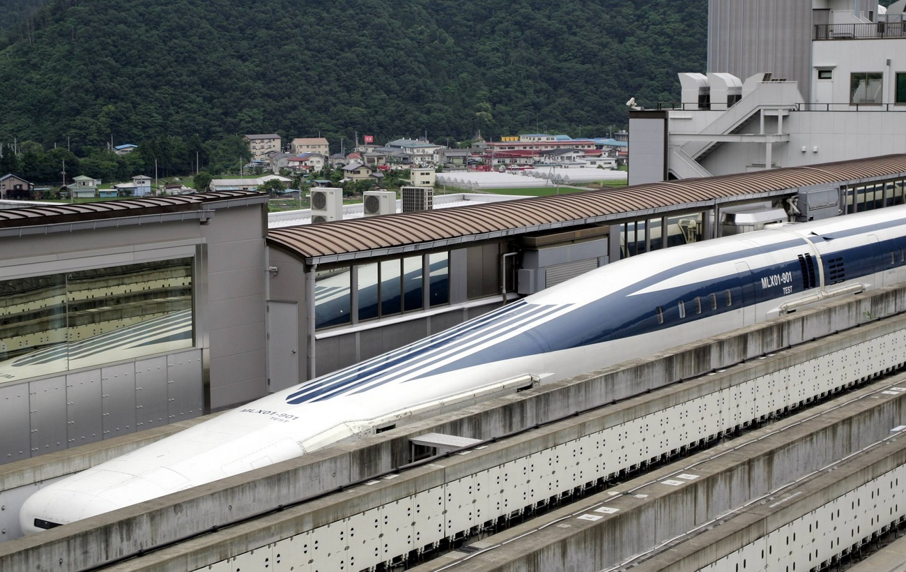Japanese L0 maglev train, capable of going speeds up to
