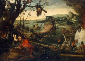 Landscape with the Legend of St Christopher, a painting by Jan Mandijn from the early 16th century.
