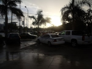 Sun out after the rain Cancun Mexico