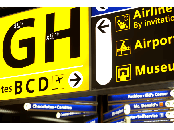 Schiphol Airport Sign