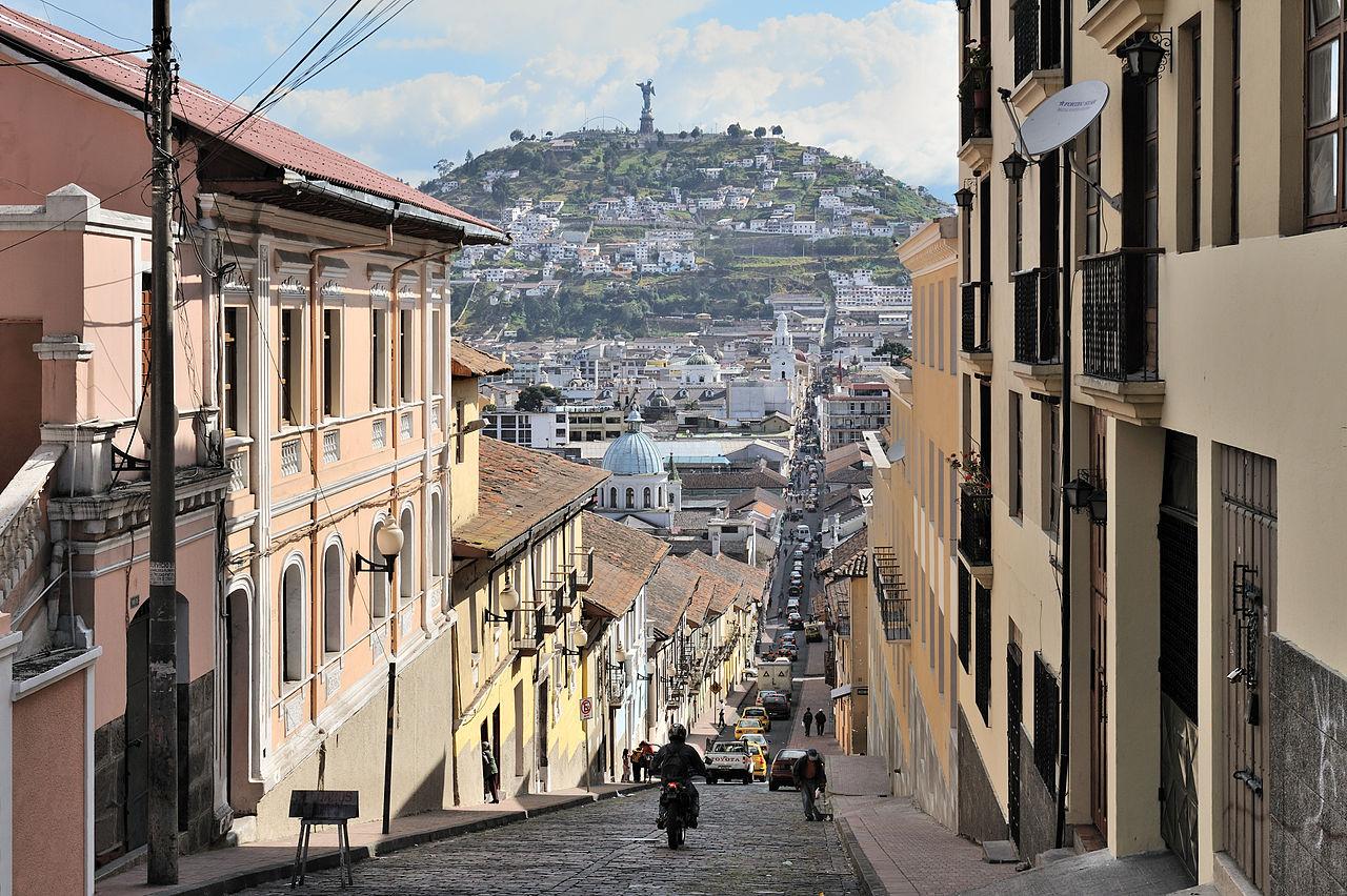 Quito Calle Garcia Moreno