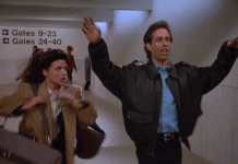 seinfeld never be late for a plane