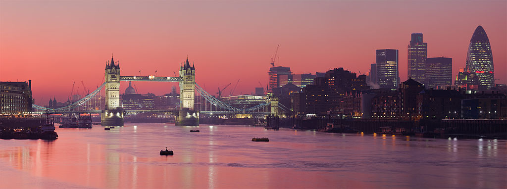 London Thames Sunset