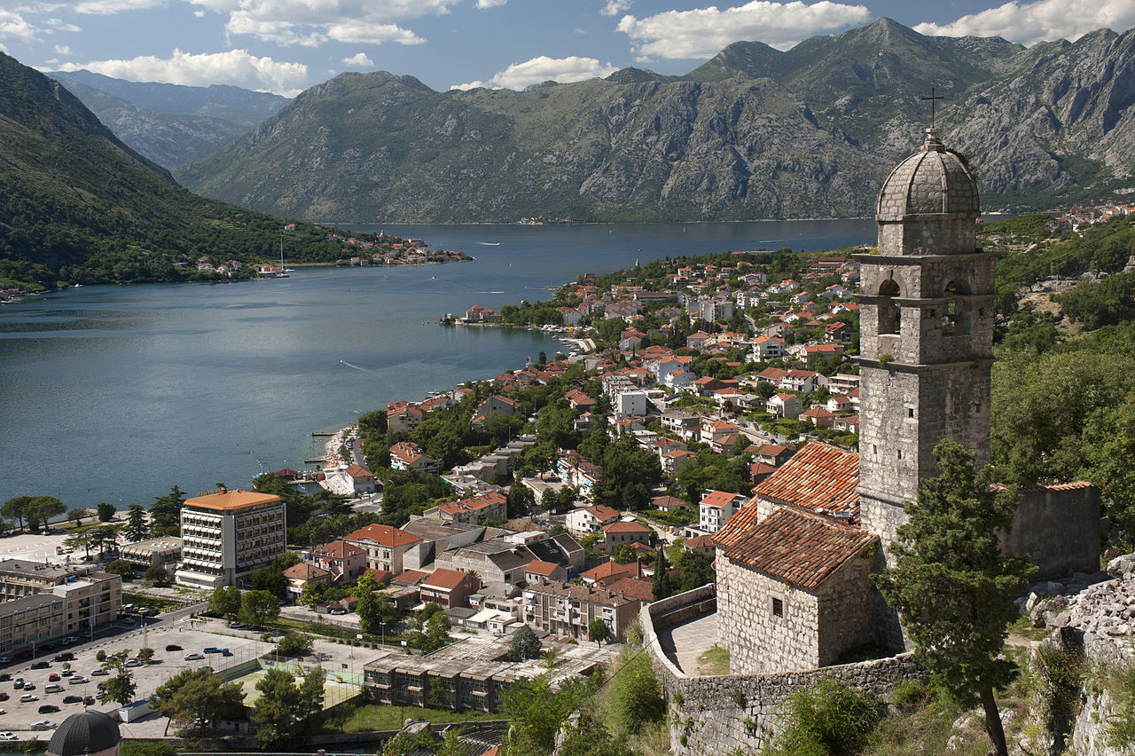 Our Lady of Health church, Kotor bay, Montenegro