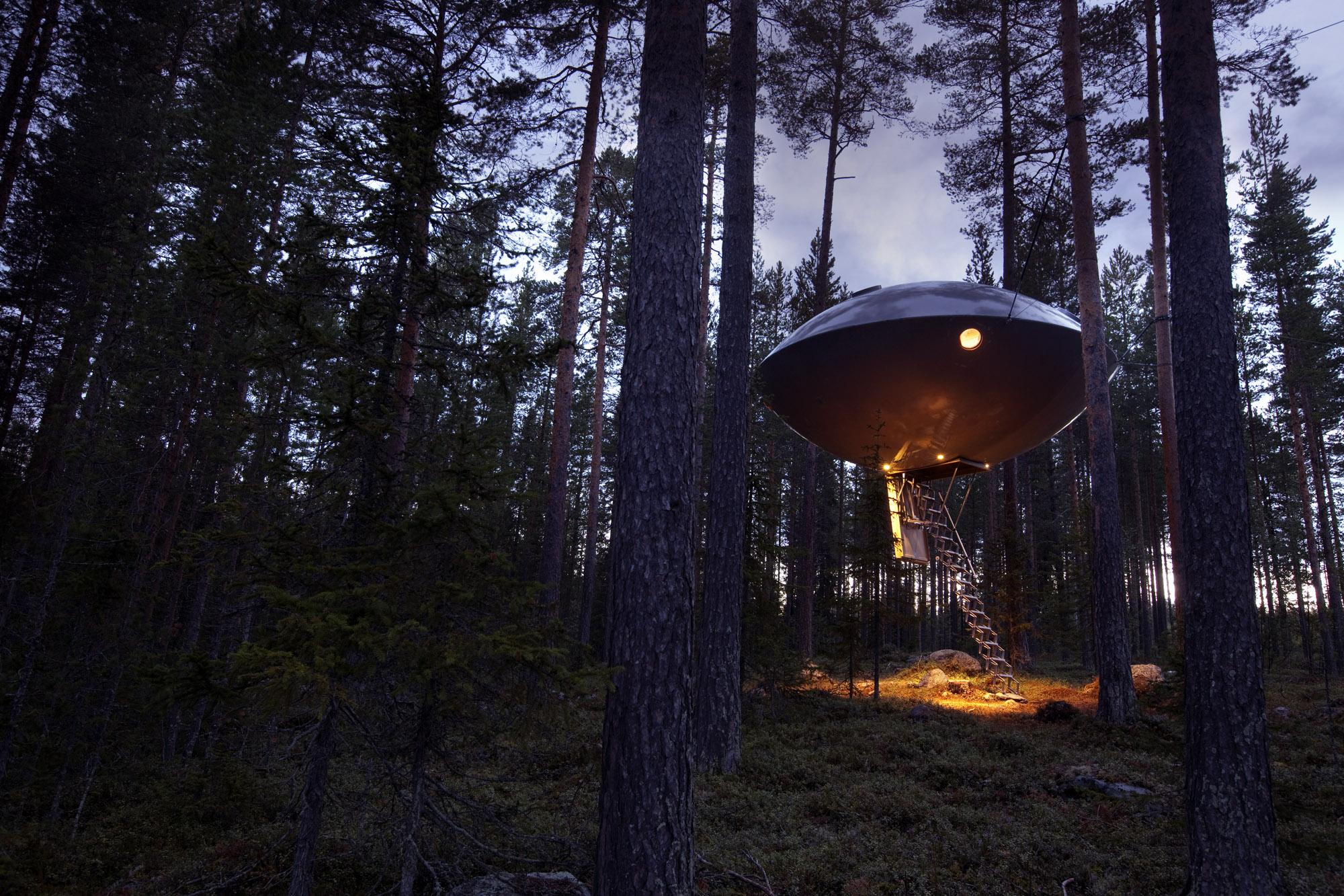 TreeHotel UFO Alternative Accommodations