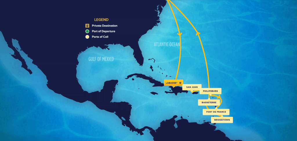 12-Night Southern Caribbean Itinerary on the Quantum of the Seas.
