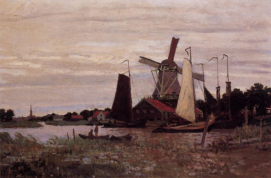 Windmill at Zaandam Claude Monet