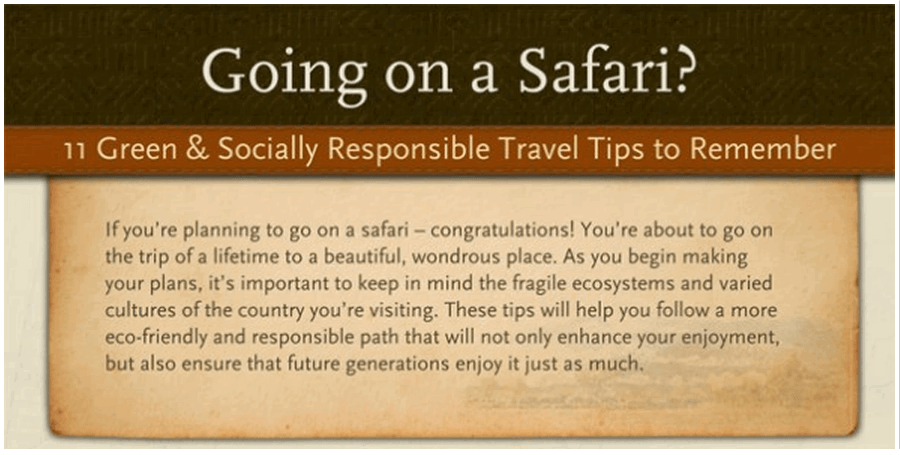 11 Safari Tips Infographic
