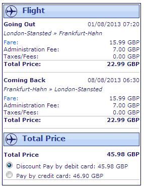 London to Frankfurt Ryanair Ex 1