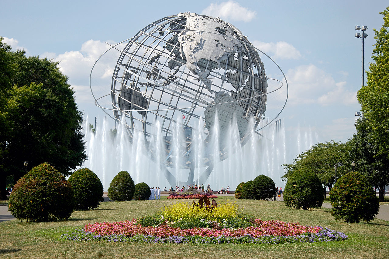 Unisphere from '64/'65 World's Fair in Flushing Meadows Park. Taken by Wikimedia Commons user Flapane.