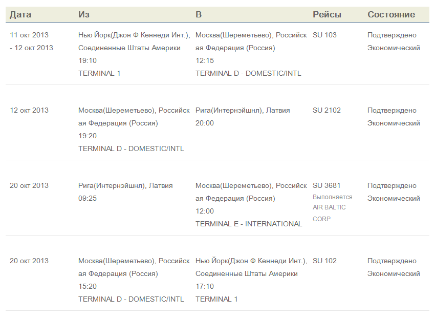 I booked my Latvia trip via the Russian airline, Aeroflot, hence the Russian receipt/itinerary.