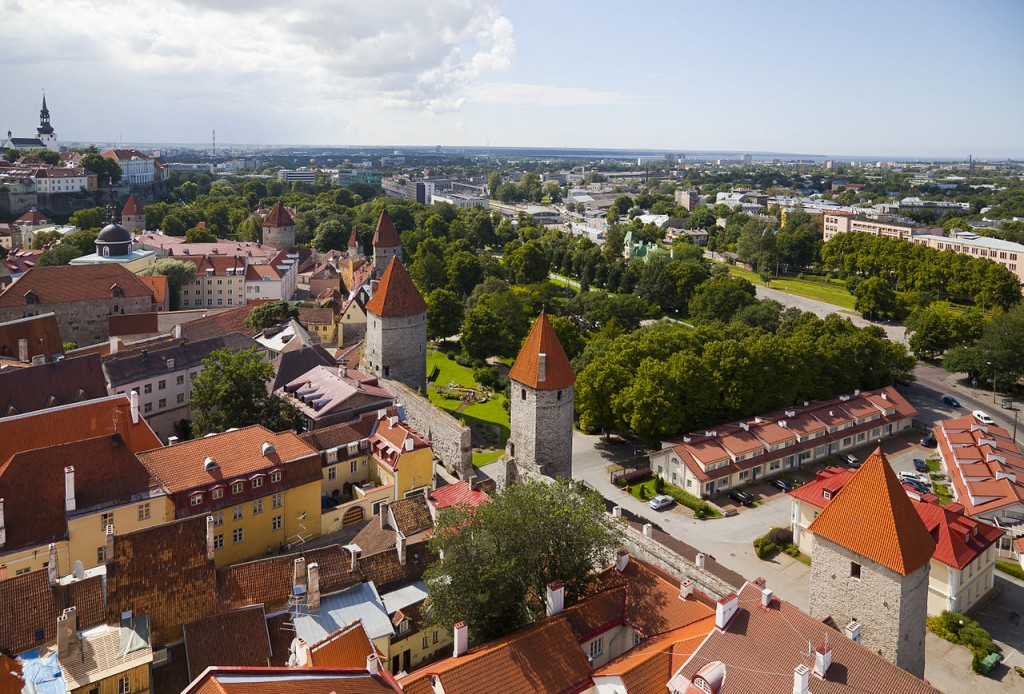 View of Tallinn from St. Olaf's church. Taken by Wikimedia Commons user Diego Delso.
