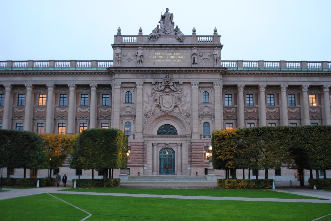 Stockholm's Riksdagshuset Parliament House