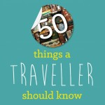 Fifty things a traveler should know infographic