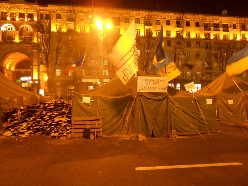 Maidan Nezalezhnosti Kiev After Protests