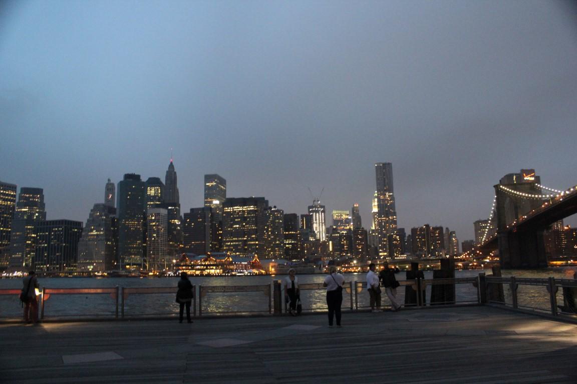 Manhattan Skyline from Brooklyn Bridge Park at Dusk