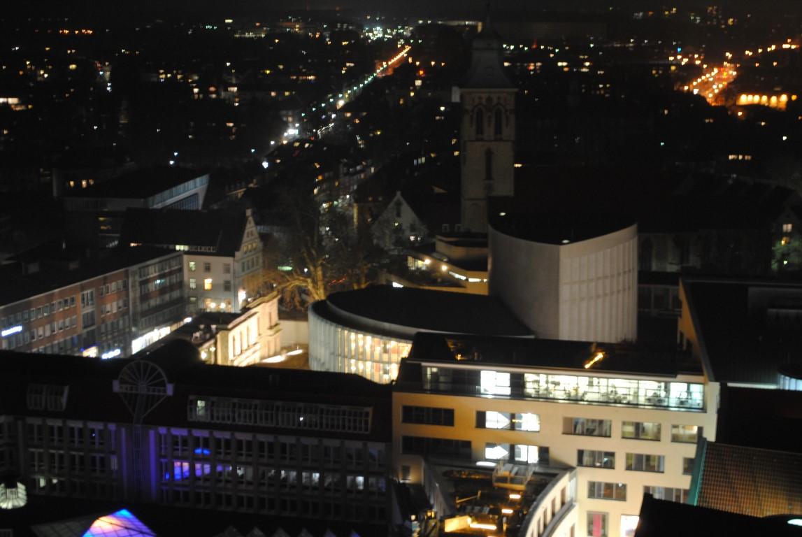 Munster at Night from Atop the Lambertikirche