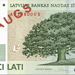 Latvia 5 Lat Bill