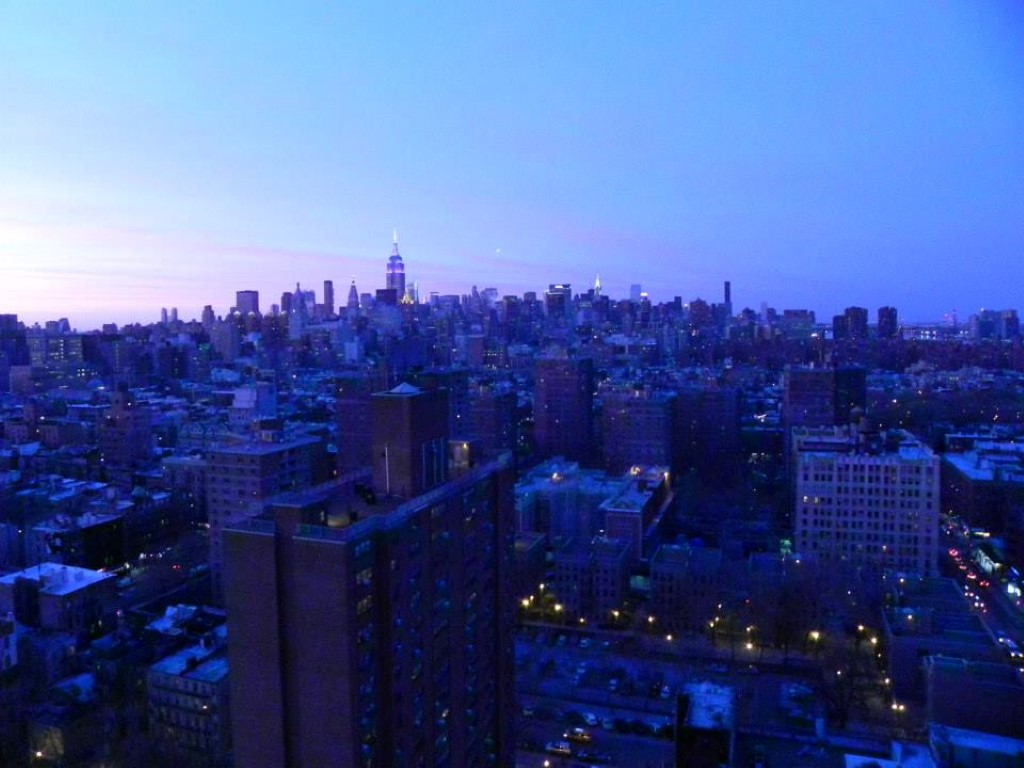 Manhattan dusk New York City