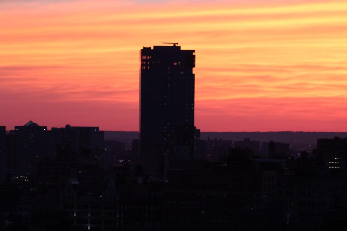 Manhattan dusk New York City