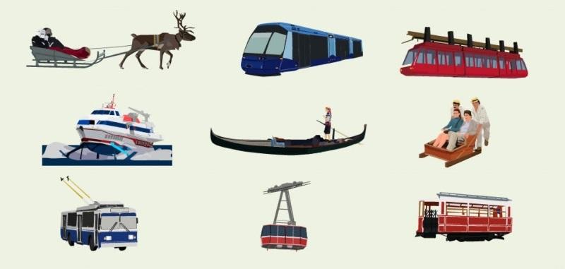 30 unique transport modes infographic featured